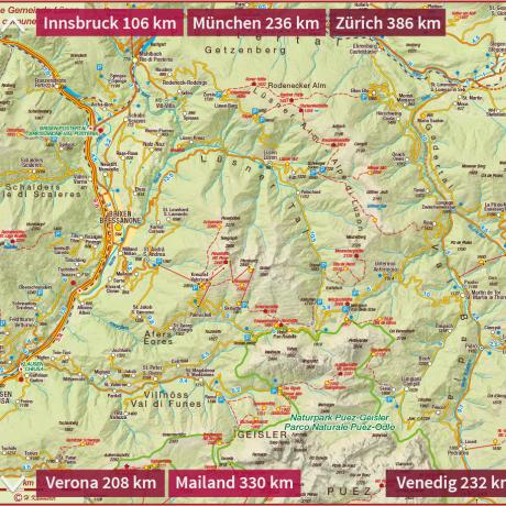 Sudtirol Karte Osterreich Italien.Urlaub In Lusen Bei Brixen Traumhafte Tage Im Wandertal In
